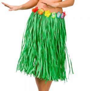 Hawaiian Hula Skirt Fancy Dress - Green