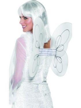 Christmas Fancy Dress Angel Wings - White