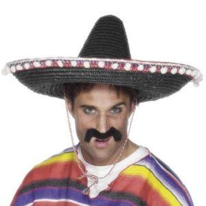 Mexican Fancy Dress Deluxe Sombrero
