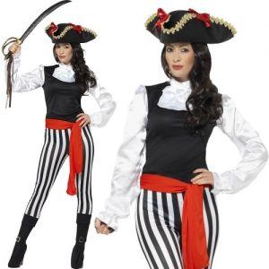 Ladies Pirate Lady Fancy Dress Costume