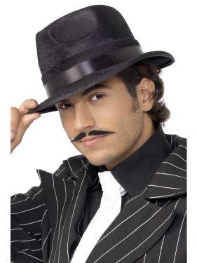 Gangster Indestructible Fedora Hat - Black