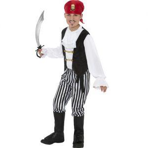 Childrens Fancy Dress - Pirate Boy Costume - S, M or L