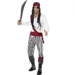 Mens Pirate Man Costume -  M & L