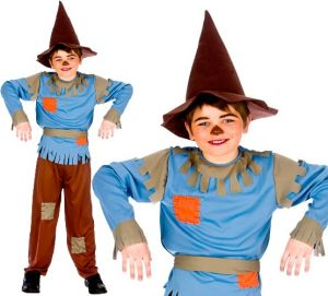 Boys Scarecrow Fancy Dress Costume