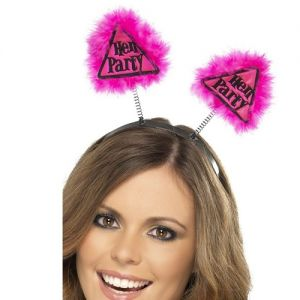 Hen Party Head Boppers - Pink/Black