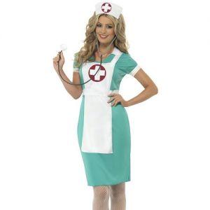 Ladies Scrub Nurse Fancy Dress Costume