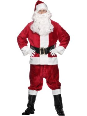 Adult Super Deluxe Plush Santa Claus Costume - One Size