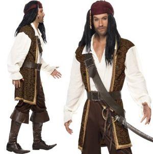 Mens High Seas Caribbean Pirate Costume
