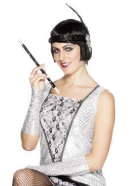 20s Flapper Long Sequinned Cigarette Holder