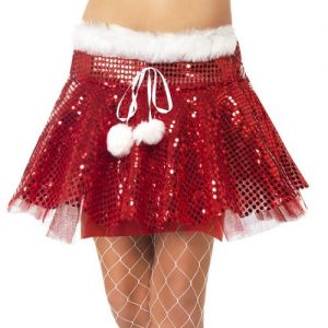 Christmas Fancy Dress Sequin Tutu - Red/White