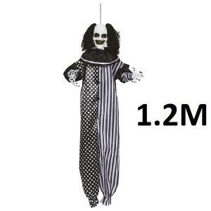 Halloween Hanging Killer Clown Decoration 120cm