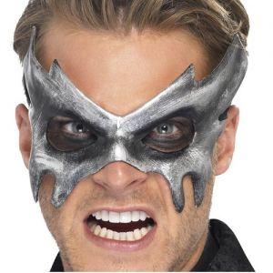 Mens Masquerade Ball Grey Phantom Mask