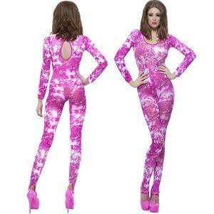 Adult Pink Tie Dye Print Bodysuit - 8 to 14