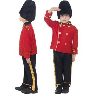 Childrens Busby Guard Fancy Dress Costume