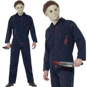 Mens Michael Myers Halloween H20 Fancy Dress Costume