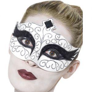 Masquerade Ball Gothic Swan Eye Mask