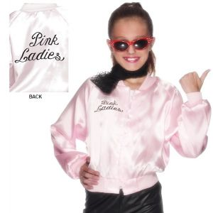 Childs Official Licensed Grease Pink Lady Jacket