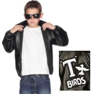Childs Official Licensed Grease 50s T Bird Jacket