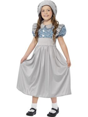 Childrens Victorian School Girl Costume