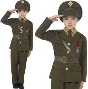 Childrens Army Officer Costume