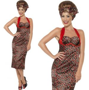 Ladies 50s Rockabilly Dress Costume