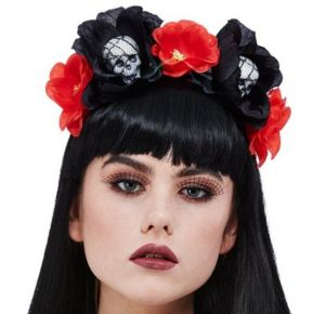 Day of the Dead Roses Headpiece