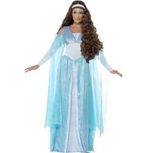Ladies Medieval Maiden Deluxe Fancy Dress Costume
