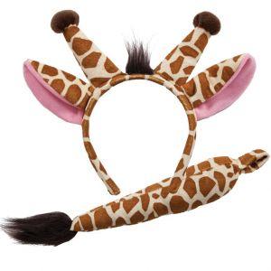 Giraffe Set - Ears on band & Tail
