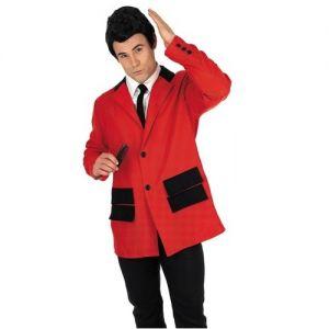 Mens Teddy Boy Fancy Dress Drape Costume - Red