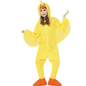 Childrens Duck Onesie Fancy Dress Costume - Yellow - S, M & L