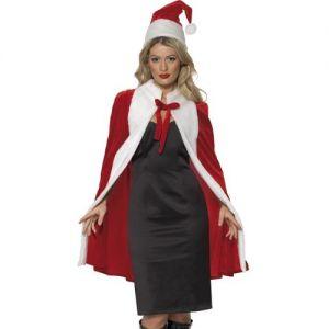 Christmas Fancy Dress Luxury Cape & Hat