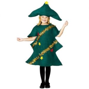 Childrens Christmas Tree Fancy Dress Costume