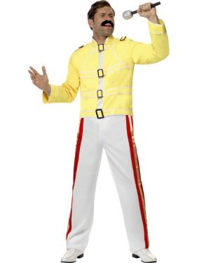 1980s Mens Officially Licensed Queen Freddie Mercury Costume