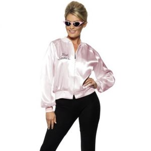 Ladies Grease 50s Pink Lady Jacket - XS, S, M, L & XL