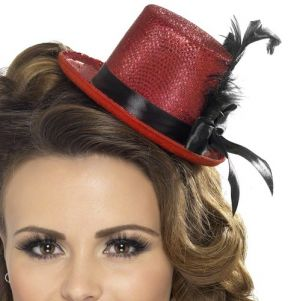 Hen Party Mini Top Hat - Red/Black