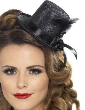 Hen Party Mini Top Hat - Black