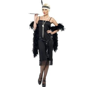 20s Flapper Fancy Dress Costume - S, M, L or XL