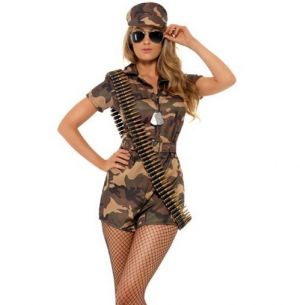 Sexy Army Girl Short Suit Costume
