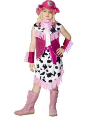 Childrens Fancy Dress - Rodeo Cowgirl Costume - S (Age 4-6 Yrs)