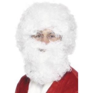 Christmas Fancy Dress Santa Wig, Tash and Beard Set
