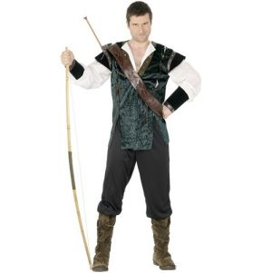 Mens Robin Hood Fancy Dress Costume