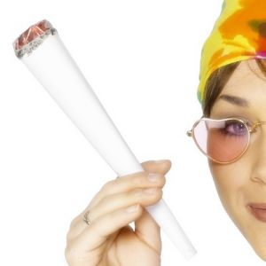 60s 70s Fancy Dress Hippy Wacky Fake Spliff