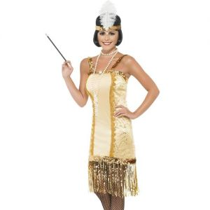 Ladies Charleston Flapper Fancy Dress Costume