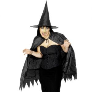 Halloween Instant Witch Cape Set
