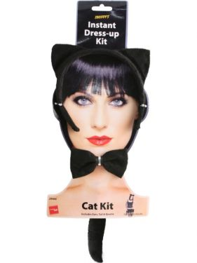 Cat Fancy Dress - Instant Cat Set - Ears, Tail, Bow Tie