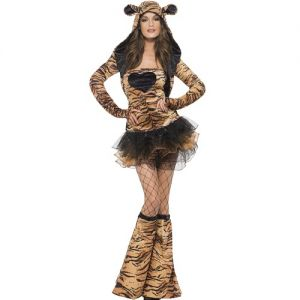 Ladies Tiger Animal Costume - S, M & L