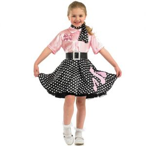 Childrens 50s Rock n Roll Girl Fancy Dress Costume