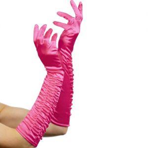 Ladies Long Temptress Gloves - Pink