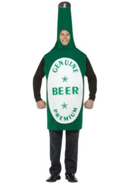 Mens Fancy Dress - Adult Lightweight Beer Bottle Costume-One Siz