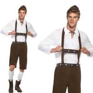 Bavarian Man Oktoberfest Fancy Dress Costume - M,  L & XL